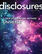 Cover of July/August 2018 issue of Disclosures