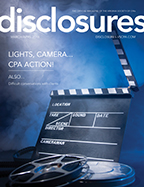 Cover of March/April 2018 issue of Disclosures