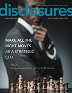 Cover of May/June 2018 issue of Disclosures