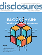 Cover of September/October 2018 issue of Disclosures