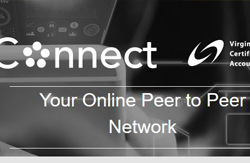 Screenshot of Connect homepage