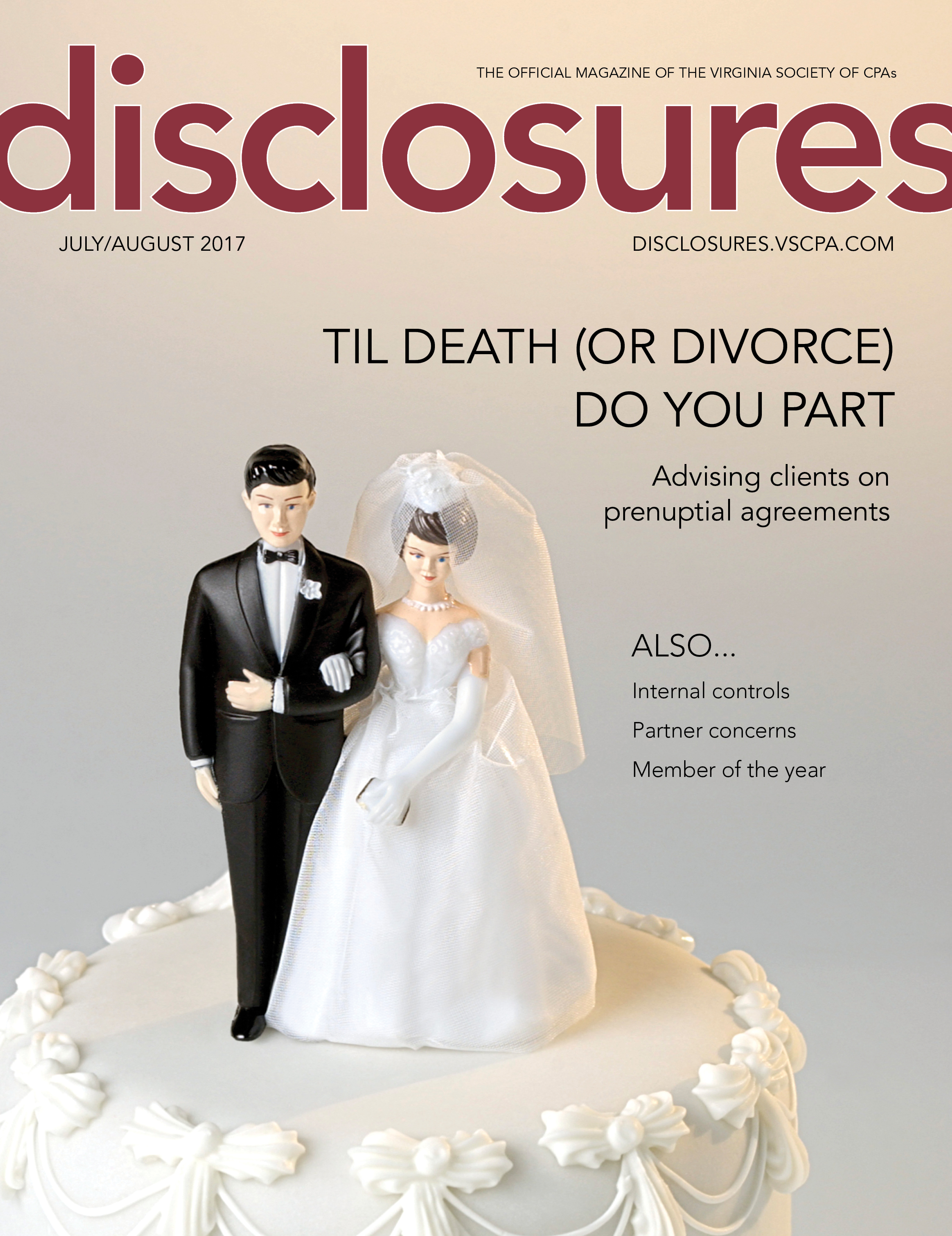Cover of July/August 2017 issue of Disclosures
