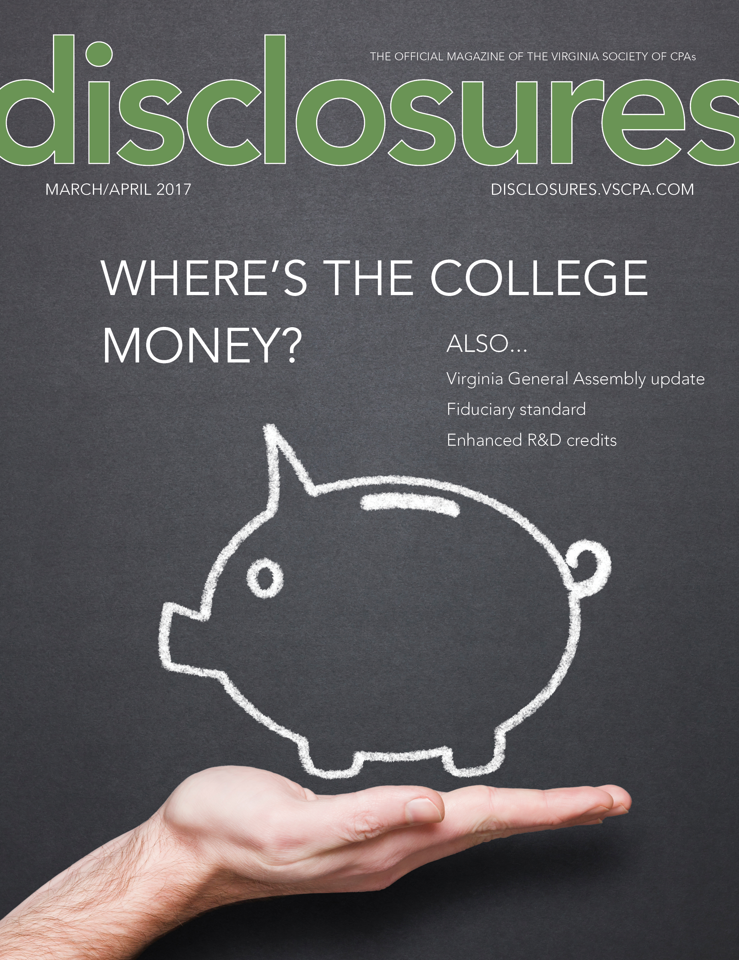 Cover of March/April 2017 issue of Disclosures