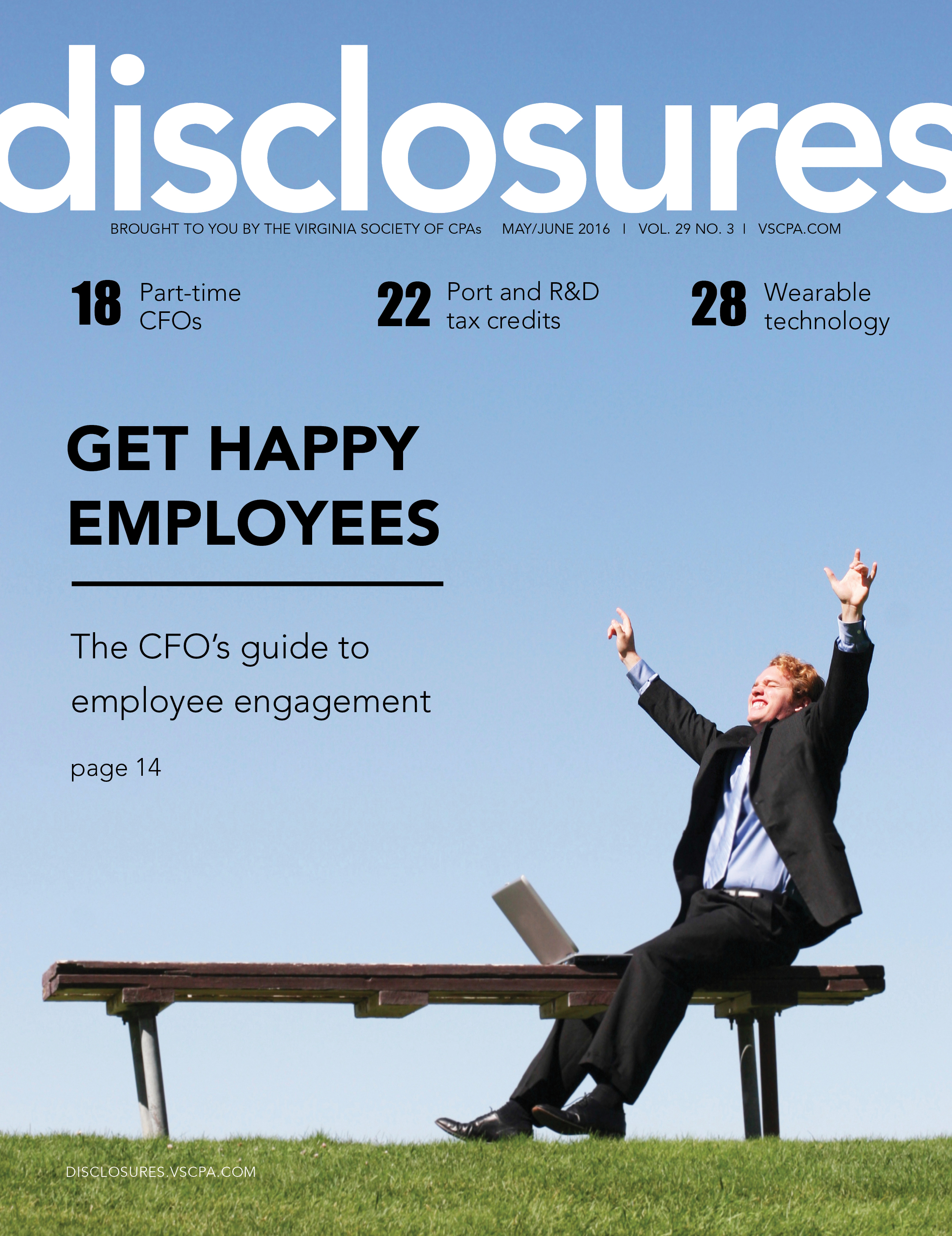 Cover of May/June 2016 issue of Disclosures