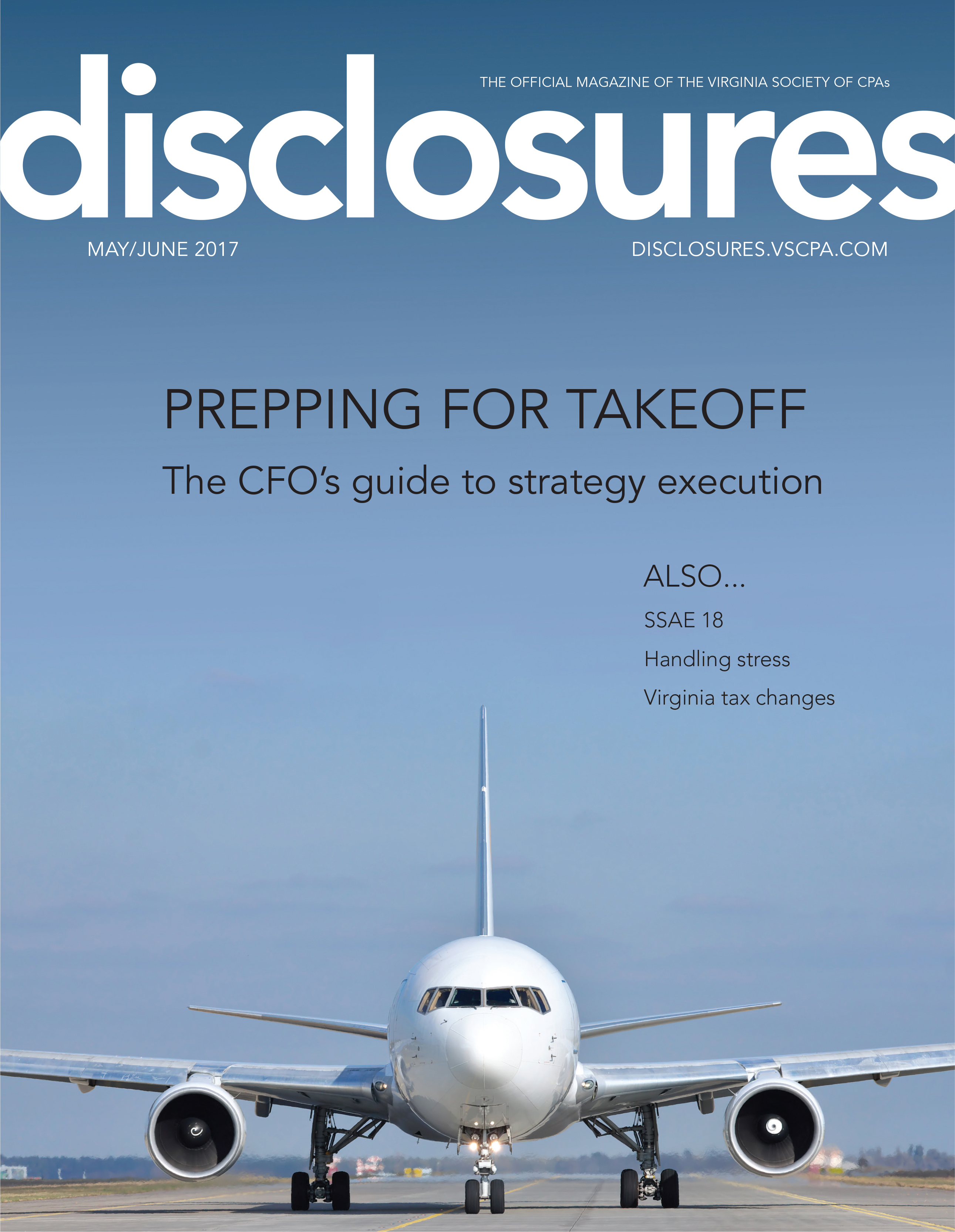 Cover of May/June 2017 issue of Disclosures
