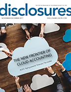Cover of November/December 2017 issue of Disclosures