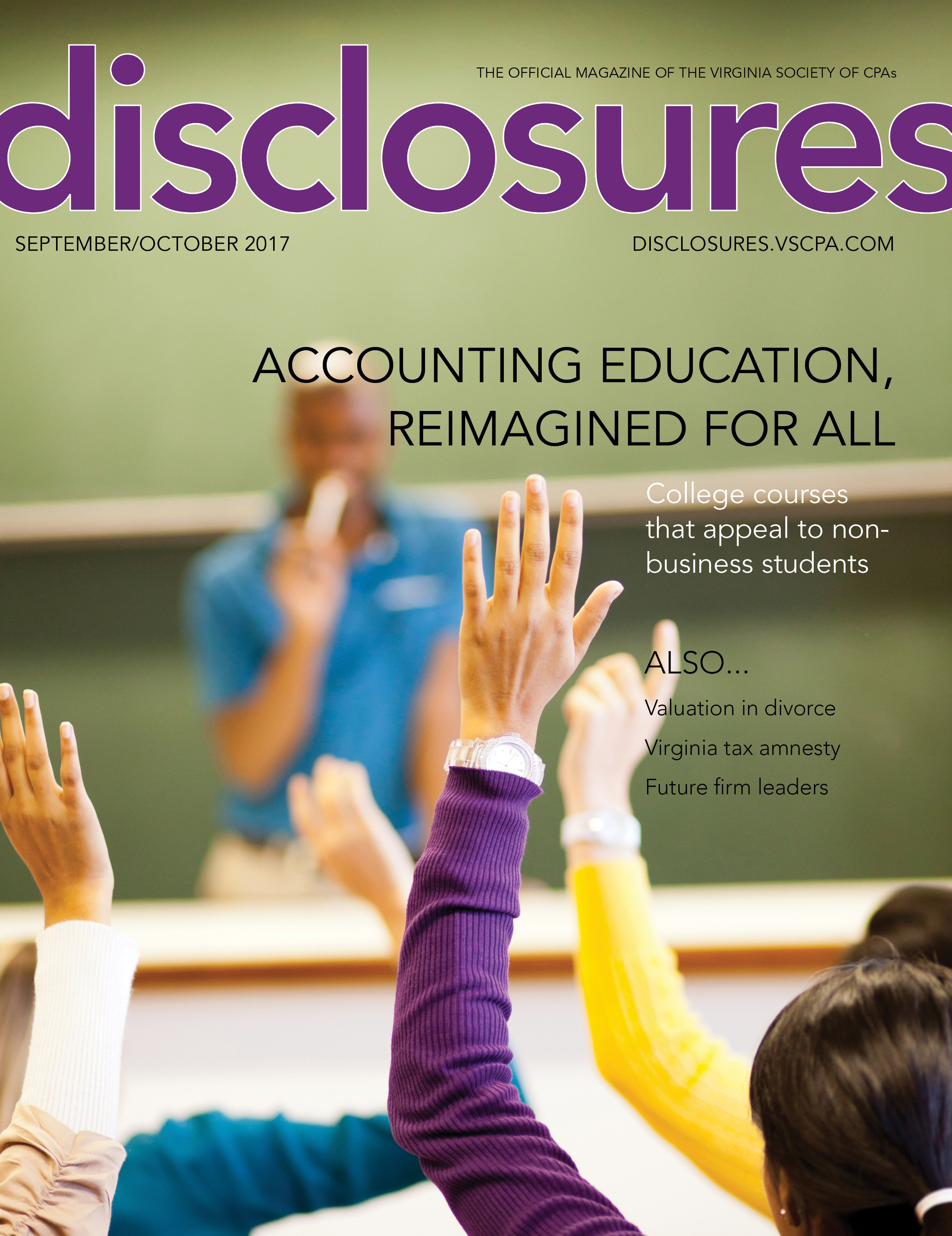 Cover of September/October 2017 issue of Disclosures