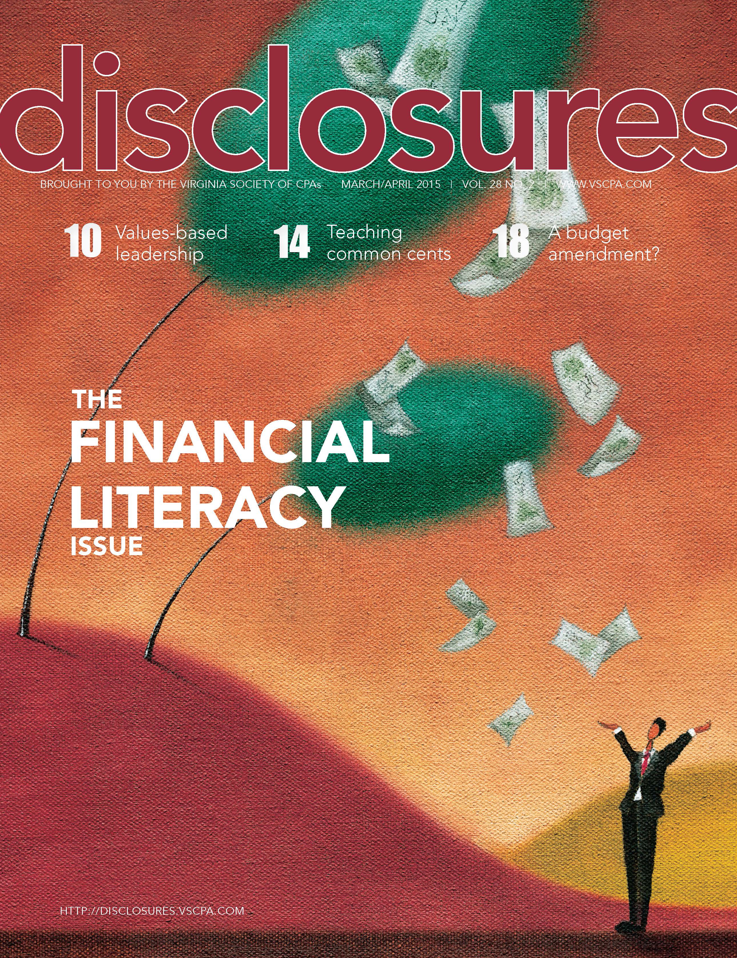 Cover of March/April 2015 issue of Disclosures