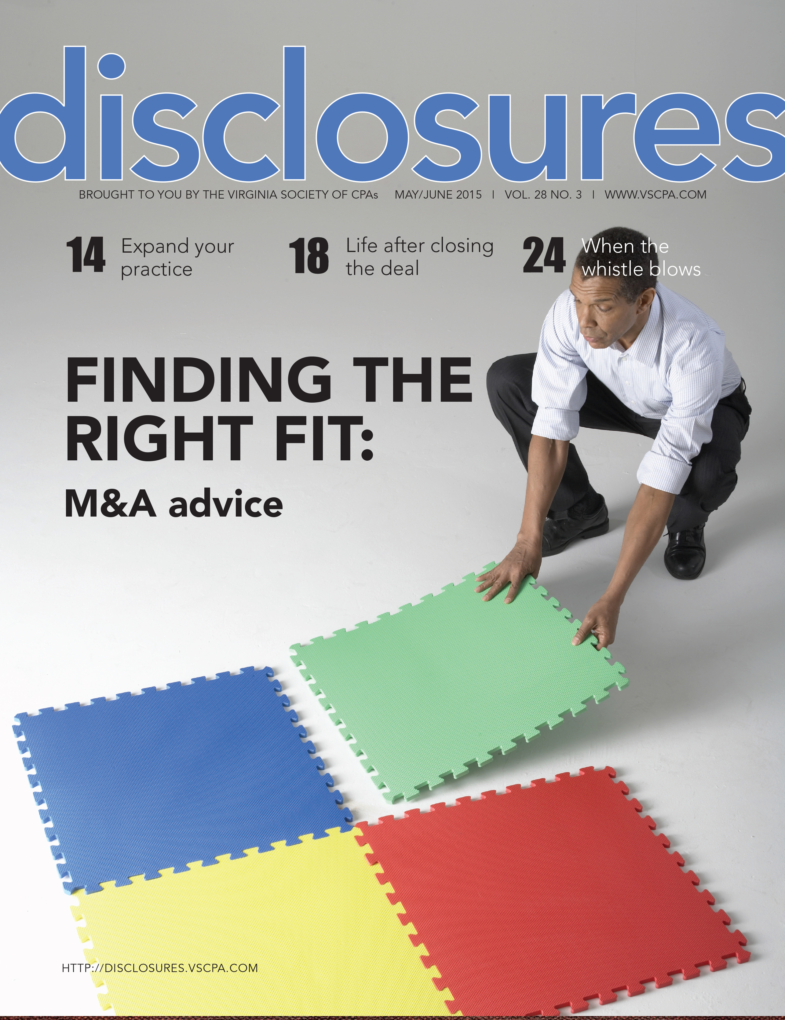 Cover of May/June 2015 issue of Disclosures